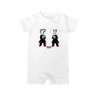 ホラフキンカゲアソビ Baby rompers