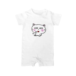 白猫のミャウ 元気ver Baby rompers
