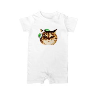 猫DJ(顔だけのやつ)ver.2 Baby rompers