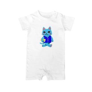 Smart scool cat Baby rompers