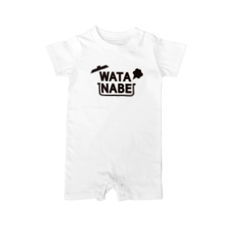 WATANABE vo.1 BLACK FONT Baby rompers
