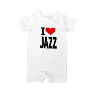 愛 ハート JAZZ ( I  Love JAZZ ) Baby rompers