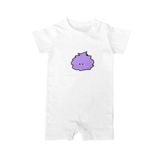 けむくじゃらちゃん(紫) Baby rompers