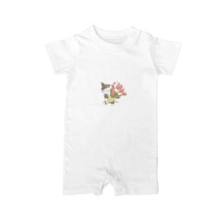 チューリップの花束 Baby rompers