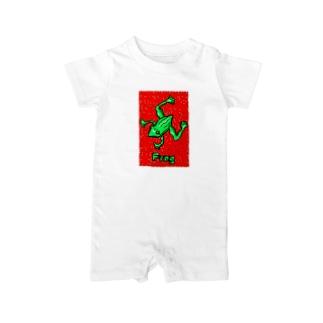 カエル.Frog Baby rompers