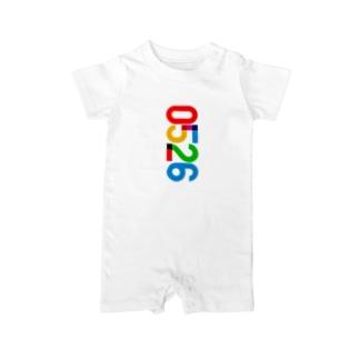 0526_誕生日_記念日_カラー Baby rompers