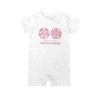 桃花ちゃん_ナゴコロゴ Baby rompers