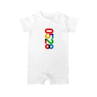 0528_誕生日_記念日_カラー Baby rompers