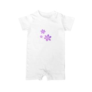 Violetflowers Baby rompers