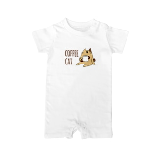 COFFEE CAT Baby rompers