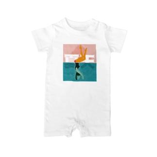 プールを楽しむ夏【夏天】 Baby Rompers