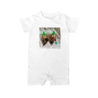 グリーンロボットのオフショット Baby rompers