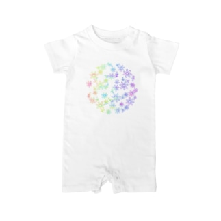 Colorful flower Baby Rompers