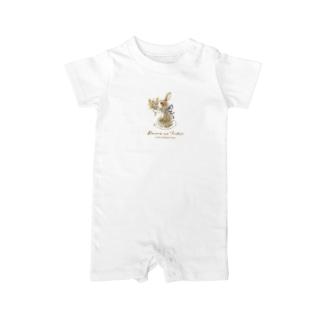Rabbit -花束- Baby rompers