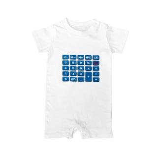 電卓blue Baby rompers