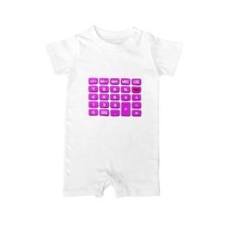 電卓pink Baby rompers