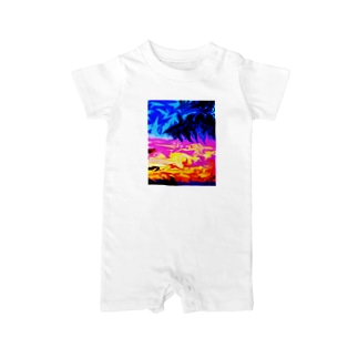 Sunset Baby Rompers