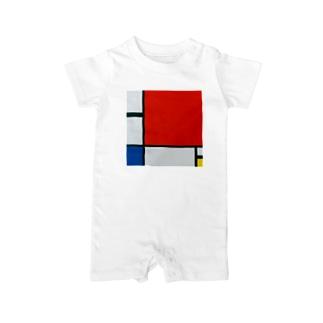 モンドリアン Composition with Red, Blue and Yellow  Piet Mondrian1930 Baby rompers