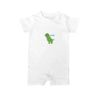 チラちら恐竜 いっくん Baby rompers