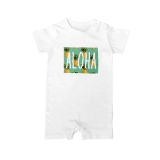 ALOHAパイナップル Baby rompers
