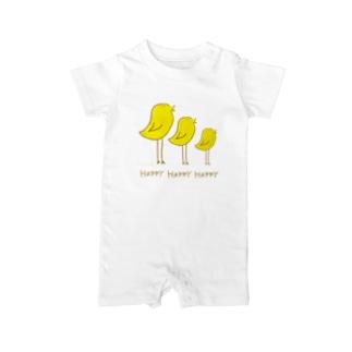コンブのHappyな鳥 Baby rompers