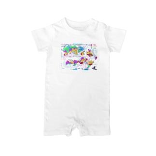 架空地図 Baby rompers