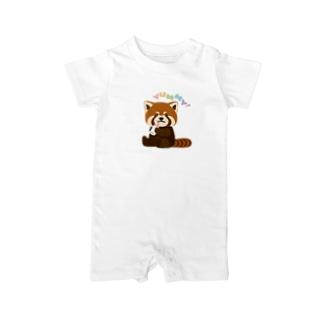 レッサーパンダBaby Baby rompers