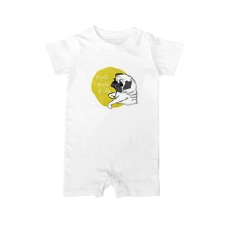 PUGPUGPUG フォーン✖️イエロー Baby rompers