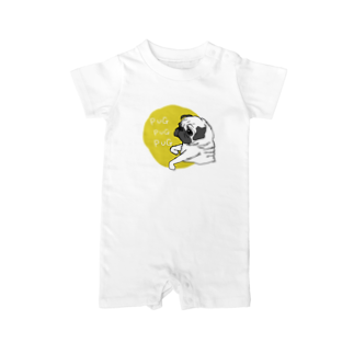 iccaのPUGPUGPUG フォーン✖️イエロー Baby rompers