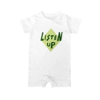 LISTEN UP Baby rompers