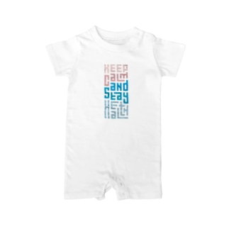 Keep Calm and Stay Health Baby Rompers