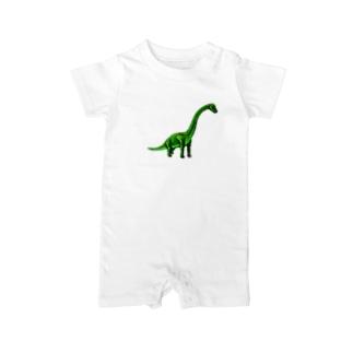 ブラキオサウルス Baby rompers
