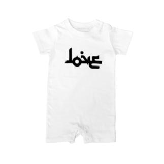 LOVE ラブ アラビア風 Baby rompers