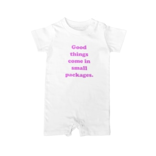 Good things come in small packages.(pink) Baby rompers