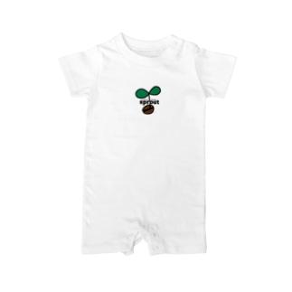 coffee豆の新芽だょ🌱 Baby rompers
