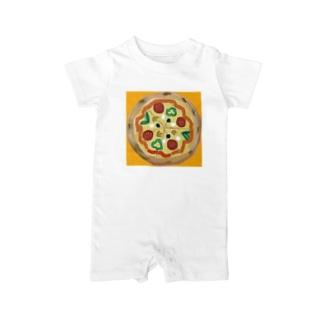 ピザ Baby rompers