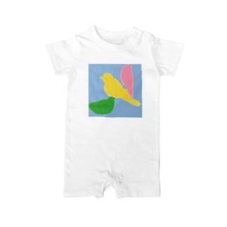 bird シルエット Baby rompers