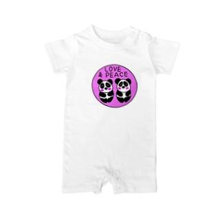 双子パンダ誕生記念 Baby rompers