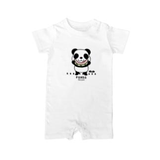 CT169 ズレちゃんとTWIN PANDAS*C Baby rompers