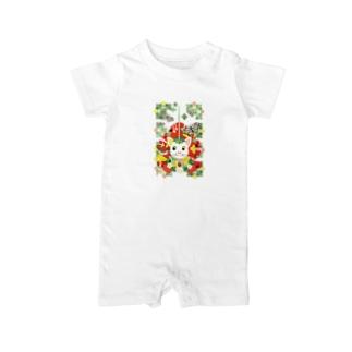 苺大福/Strawberry Daifuku Baby rompers