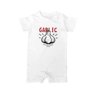 CT180 にんにく*GARLIC*ずっと一緒 Baby rompers