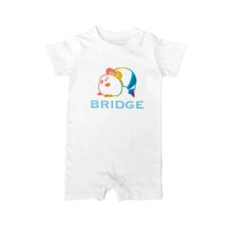 パンダプロレス ブリッジ 虹色 Baby Rompers