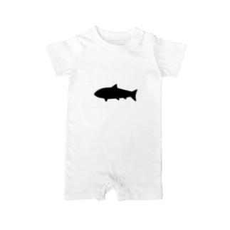 とてもシンプルなサメ Baby rompers