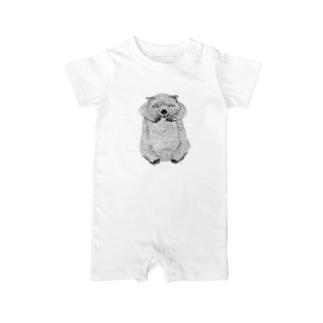 wombat(ペン画) Baby Rompers