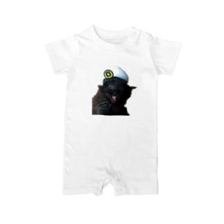 猫のお巡りさん再び Baby rompers