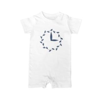時計/grass Baby Rompers