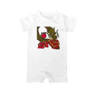 龍と牡丹 Baby rompers