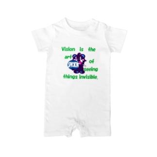 くるりんモクモックマB 紫 Baby rompers