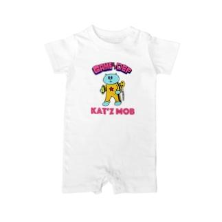カンフーネジネコ Baby rompers