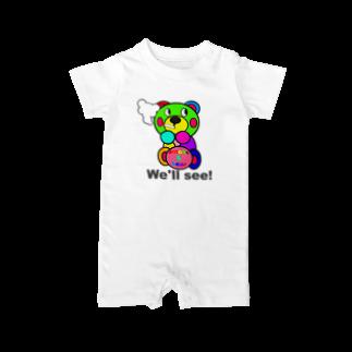 オリジナルデザインTシャツ SMOKIN'の一服モクモックマ  カラフル  Baby rompers